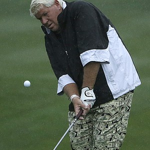 John Daly during the first round of the PGA Tour's 2014 AT&T Pebble Beach National Pro-Am.