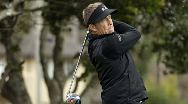 Stuart Appleby during the first round of the PGA Tour's 2014 AT&T Pebble Beach National Pro-Am.