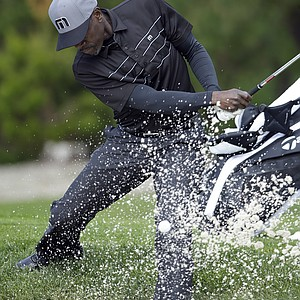 Actor Don Cheadle during the first round of the AT&T Pebble Beach National Pro-Am.