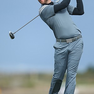 Dustin Johnson during the second round of the PGA Tour's 2014 AT&T Pebble Beach National Pro-Am.