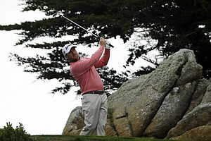 Graeme McDowell during the second round of the PGA Tour's 2014 AT&T Pebble Beach National Pro-Am.