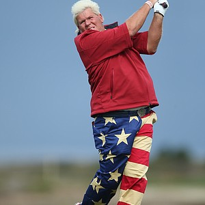 John Daly during the second round of the PGA Tour's 2014 AT&T Pebble Beach National Pro-Am.