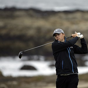 Jordan Spieth during the second round of the PGA Tour's 2014 AT&T Pebble Beach National Pro-Am.