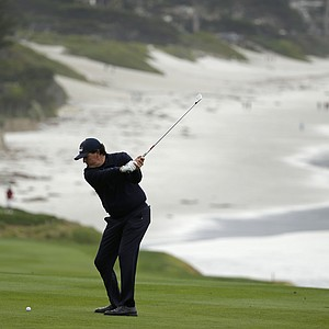 Phil Mickelson during the second round of the PGA Tour's 2014 AT&T Pebble Beach National Pro-Am.