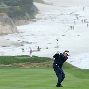 Bill Belichick, head coach of the New England Patriots, during the third round of the AT&T Pebble Beach National Pro-Am.
