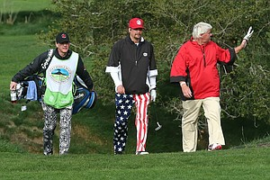 Kid Rock, musician, and John Daly during the third round of the AT&T Pebble Beach National Pro-Am.
