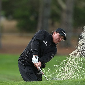 Phil Mickelson during the third round of the AT&T Pebble Beach National Pro-Am.
