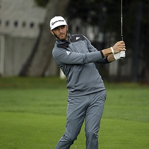 Dustin Johnson during the final round of the PGA Tour's AT&T Pebble Beach National Pro-Am.