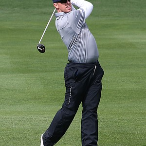 Hunter Mahan during the final round of the PGA Tour's AT&T Pebble Beach National Pro-Am.