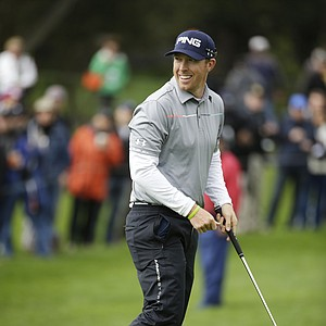 Hunter Mahan during the final round of the PGA Tour's 2014 AT&T Pebble Beach National Pro-Am.