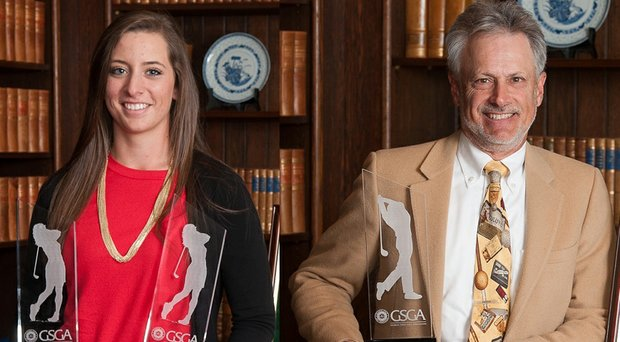 Ashlan Ramsey, left, and Doug Hanzel were co-winners of the 2014 Tommy Barnes Award.