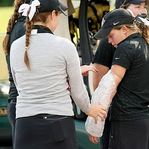 Ashley Holder was battling an injury during the UCF Challenge at Eagle Creek Golf Club.