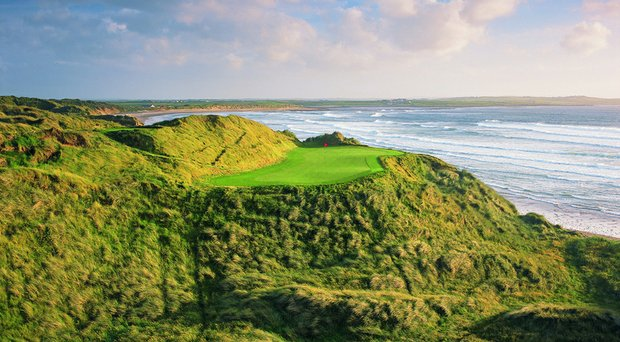 The 14th hole at Doonbeg Golf Club in Ireland, purchased by Donald Trump.