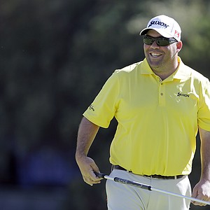 Kevin Stadler during Wednesday's pro-am day at the PGA Tour's 2014 Northern Trust Open at Riviera CC near Los Angeles.