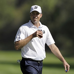 Matt Kuchar during Wednesday's pro-am day at the PGA Tour's 2014 Northern Trust Open at Riviera CC near Los Angeles.