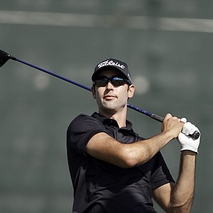 Cameron Tringale during the first round of the PGA Tour's 2014 Northern Trust Open at Riviera near Los Angeles.