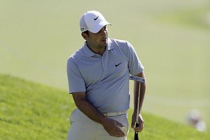Francesco Molinari during the first round of the PGA Tour's 2014 Northern Trust Open at Riviera near Los Angeles.