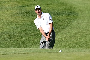 Matt Kuchar during the first round of the PGA Tour's 2014 Northern Trust Open at Riviera near Los Angeles.