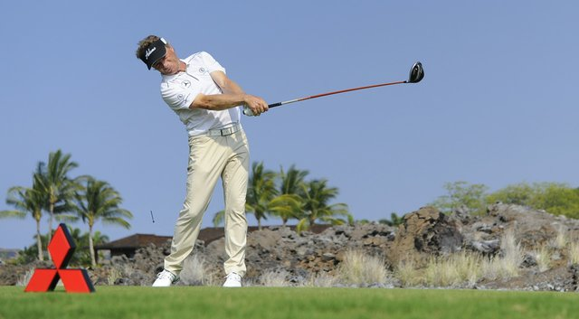 Bernhard Langer is tied for the lead at the ACE Group Classic with Kirk Triplett.