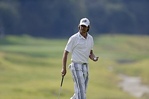 Aaron Baddeley during the third round of the PGA Tour's 2014 Northern Trust Open.