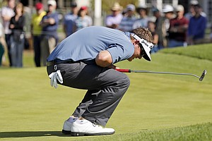 Charlie Beljan during the final round of the PGA Tour's 2014 Northern Trust Open at Riviera CC near Los Angeles.