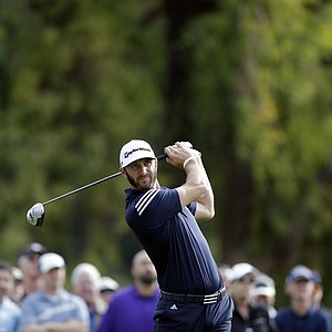 Dustin Johnson during the third round of the PGA Tour's 2014 Northern Trust Open.