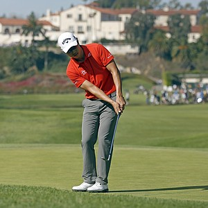 Sang-Moon Bae during Sunday's final round of the PGA Tour's 2014 Northern Trust Open at Riviera CC near Los Angeles.
