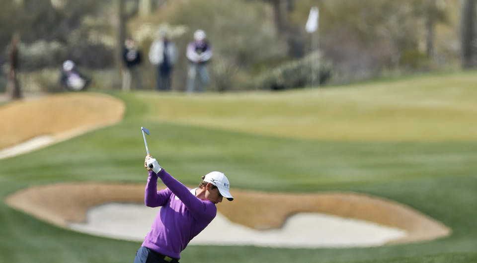 Charles Howell III plays the fifth hole at Dove Mountain during the 2013 WGC Match Play.