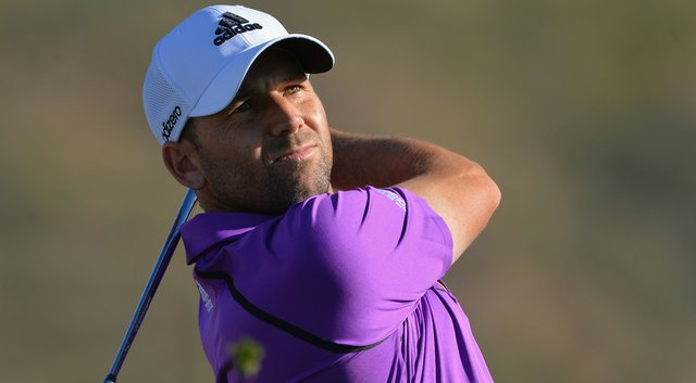 Sergio Garcia during a practice round for the WGC-Accenture Match Play Championship.