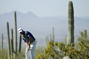 Graeme McDowell during Tuesday practice for the PGA Tour's 2014 WGC-Accenture Match Play at Dove Mountain in Marana, Ariz.