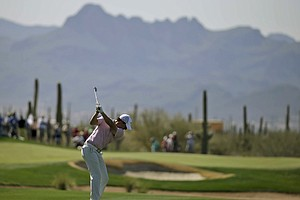 Rory McIlroy during Tuesday practice for the PGA Tour's 2014 WGC-Accenture Match Play at Dove Mountain in Marana, Ariz.