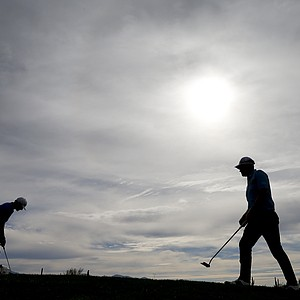 Dustin Johnson and Peter Hanson at the WGC Match Play 2014