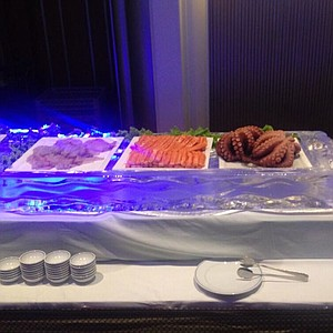 Some of the food options at the Honda LPGA Thailand tournament pro am party.