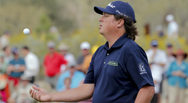 Jason Dufner during his first-round win in the 2014 WGC-Accenture Match Play at Dove Mountain in Marana, Ariz.