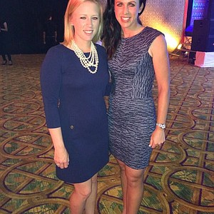 Nichole Castrale and Morgan Pressel at the Honda LPGA Thailand tournament pro am party