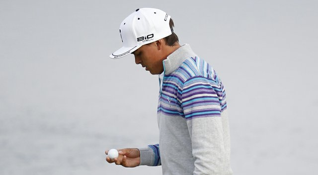 Rickie Fowler during his first-round win at the WGC-Accenture Match Play Championship at The Golf Club at Dove Mountain.