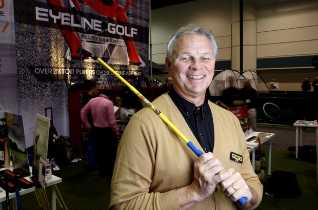 Sam Froggatte of Eyeline Golf  at the 2014 PGA Merchandise Show at the Orange County Convention Center.