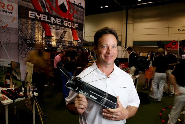 Ted Purdy, Purdy Grip, at the 2014 PGA Merchandise Show at the Orange County Convention Center.