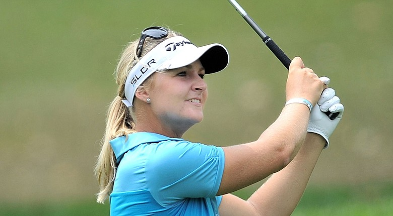 Anna Nordqvist during the first round of the 2014 Honda LPGA Thailand.