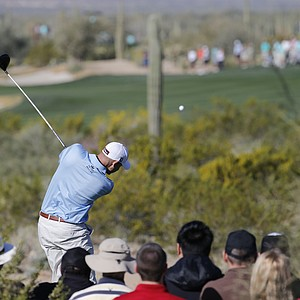 Bill Haas during Thursday's second round of the PGA Tour's 2014 WGC-Accenture Match Play at Dove Mountain in Marana, Ariz.
