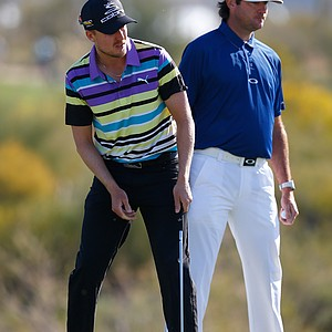 Jonas Blixt (left) in Puma; Bubba Waton in Oakley