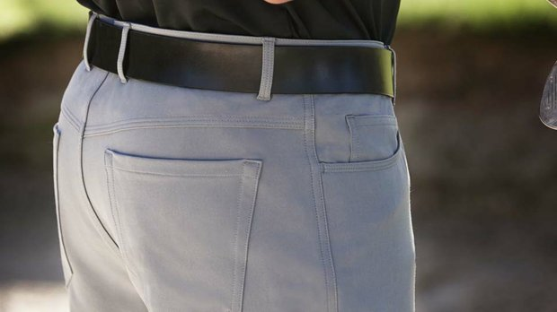 Dunning Golf's four-way, five-pockey pant comes out July 15.