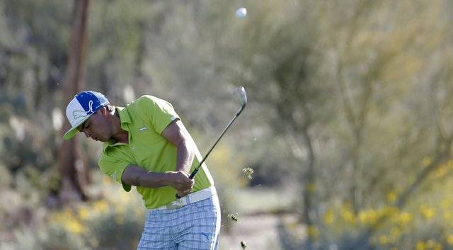 Rickie Fowler during Thursday's second round of the PGA Tour's 2014 WGC-Accenture Match Play at Dove Mountain in Marana, Ariz.