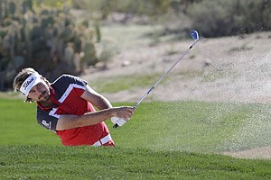 Victor Dubuisson during Thursday's second round of the PGA Tour's 2014 WGC-Accenture Match Play at Dove Mountain in Marana, Ariz.