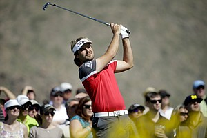 Victor Dubuisson during the quarterfinals of the WGC-Accenture Match Play.