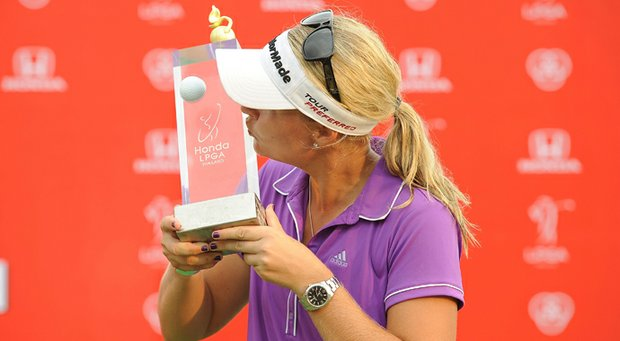 Anna Nordqvist held off defending champion Inbee Park to win the LPGA Thailand.