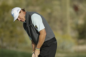 Ernie Els during his semifinal match in the 2014 WGC-Accenture Match Play at Dove Mountain in Marana, Ariz.