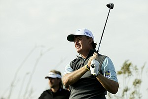 Ernie Els during his semifinal match Sunday at the 2014 WGC-Accenture Match Play at Dove Mountain in Marana, Ariz.