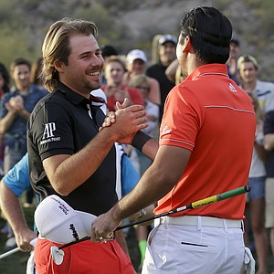 Jason Day during his 2014 WGC-Accenture Match Play win in the finals against Victor Dubuisson.