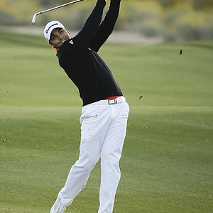 Jason Day during the semifinals of the 2014 WGC-Accenture Match Play at Dove Mountain in Marana, Ariz.